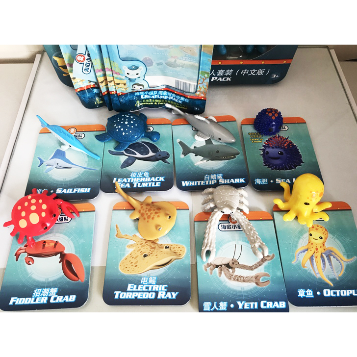 original Octonauts !!! Octonauts marine animals creatures figures toy sea turtle urchin white tip shark child Toys mr froger carcharodon megalodon model giant tooth shark sphyrna aquatic creatures wild animals zoo modeling plastic sea lift toy
