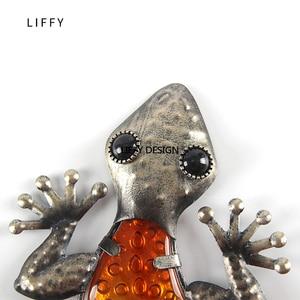 Image 5 - Decorazione del giardino Allaperto Animali di Metallo Gecko Opere Darte Della Parete Scultura per il Soggiorno e Decorazione del Giardino Esterno Statue