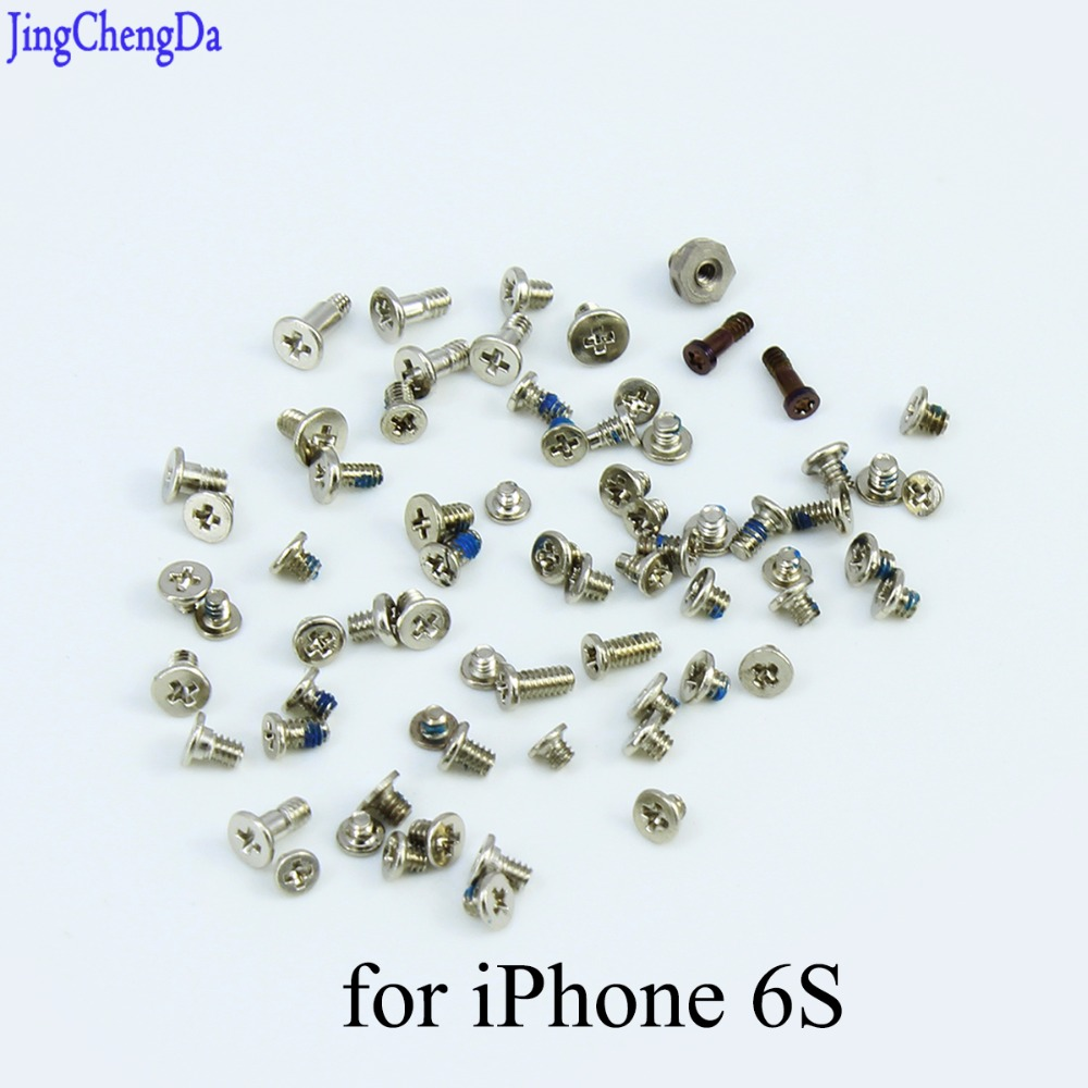 JCD Replacement Spare Parts Full Set Pentagon Bottom Dock <font><b>Connector</b></font> Screws For <font><b>iPhone</b></font> <font><b>6S</b></font> <font><b>6s</b></font> 6 S 4.7