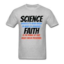 2017 New T Shirt Men Science VS Faith Men T Shirts Short Sleeve 3d Printed Teenage Round Neck Tee