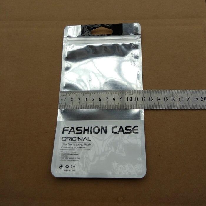 1000 stks/partij DHL 12*21.5 cm Plastic Rits Clear Zilveren Retail Verpakking voor iphone6 6 s 7 Samsung S6 C6 C7 mobiele case pakket-in Opbergtassen van Huis & Tuin op  Groep 3