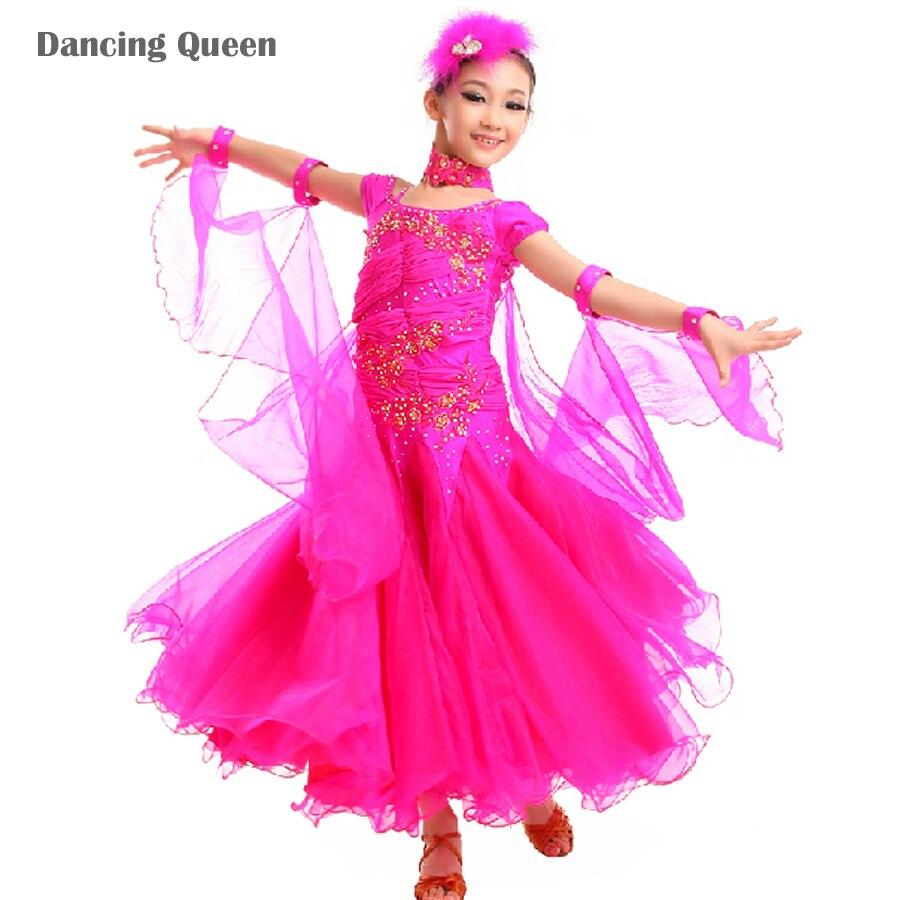 Popular Ballroom Dresses Children Waltz-Buy Cheap Ballroom Dresses ...
