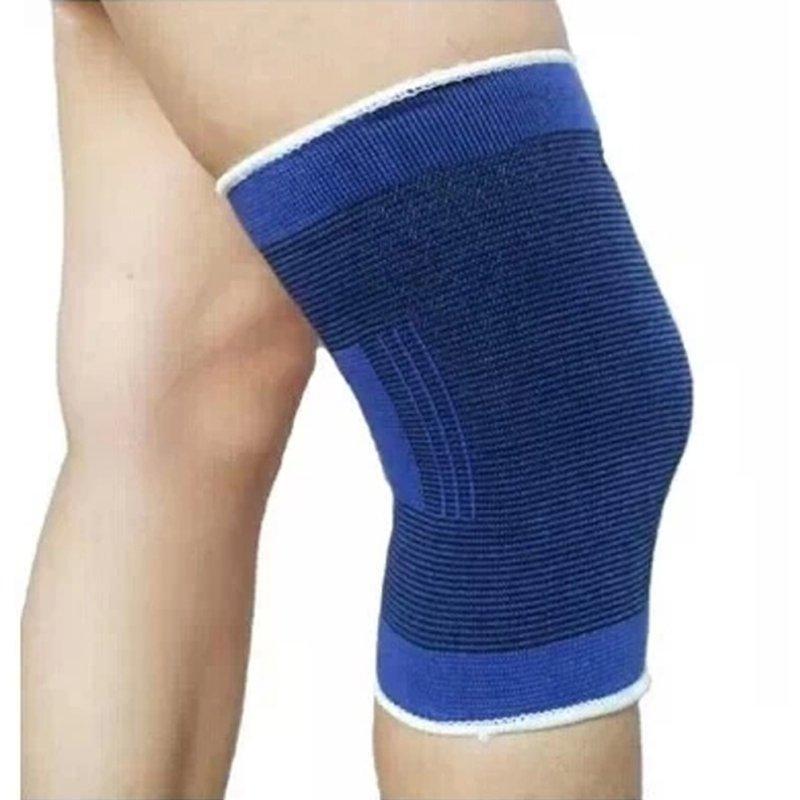 2 PCS Elasticated Knee Blue Knee Pads Knee Support Brace Leg Arthritis Injury GYM Elasticated Bandage Support