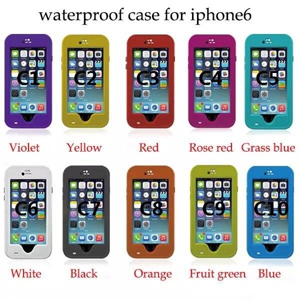 bilder für 30 teile/los, redpepper fall für iPhone 6/6 s, 100% wasserdichte für iPhone 6/6 s. mit kleinpaket paprika. freies verschiffen durch DHL