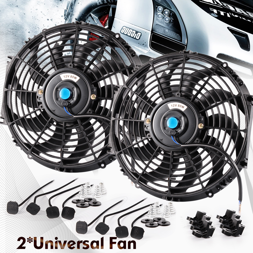 Cooling System 12 Inch Universal Car Radiator Fan Slim Push Pull Electric Engine Cooling Fan 12v With Mounting Kit Back To Search Resultsautomobiles & Motorcycles