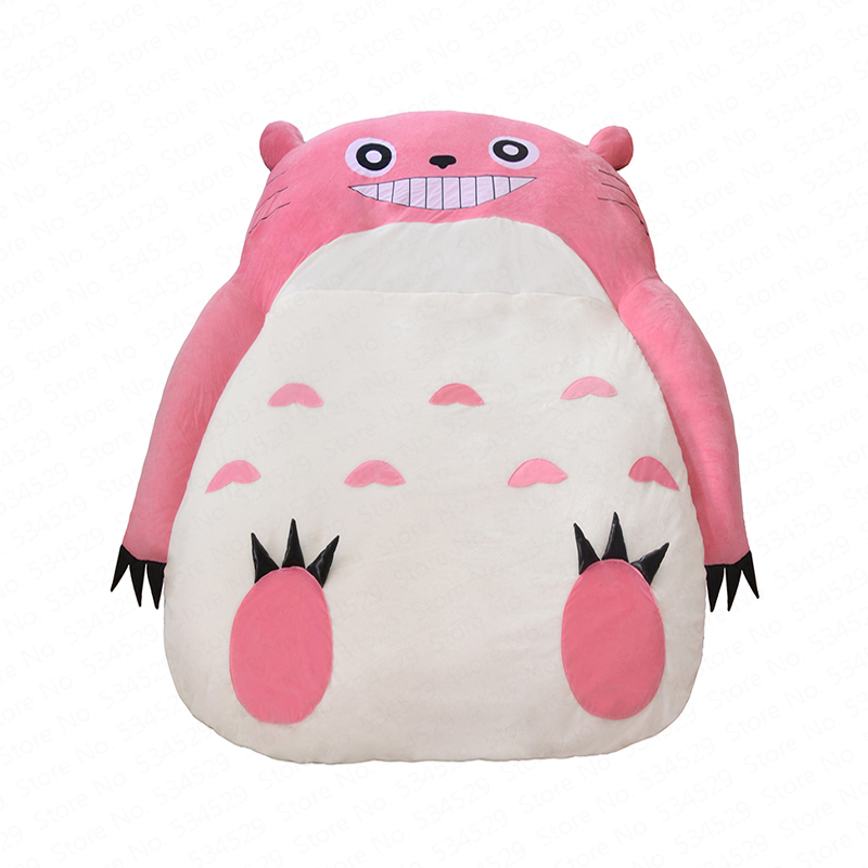 1B Creative Lazy Sofa Bed Totoro Single Chair Double Cute Cartoon Sofa Mattress Bedroom Bed Removable And Washable