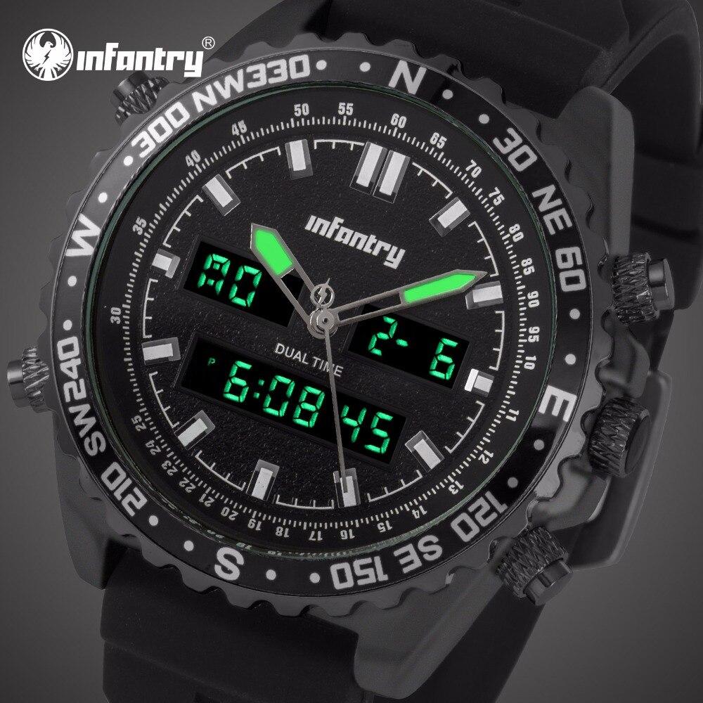 Пехота Для мужчин s часы лучший бренд класса люкс аналоговые цифровые часы Для мужчин ВОЕННАЯ Авиатор тактические часы для мужские черные ...