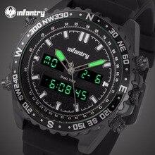 aaa0cb7e6ff INFANTARIA Mens Relógios Top Marca de Luxo Relógio Analógico Digital Homens  Relógio para Homens Relogio masculino Preto Aviador .