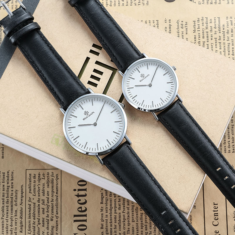 SIHAIXIN Ultra Thin Watches For Ladies Man Minimalist Leather Cheap Quartz Clock Couple Male Women Wrist Watch Luxury For Lovers funique fashion lovers couple watches women men leather simple yes no watch hour clock ladies quartz wrist watch relojes mujer