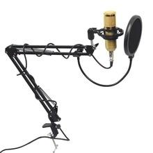 Enregistrement sonore à condensateur professionnel BM800 Mikrofon avec support pour enregistrement KTV karaoké Microphone support de micro pour ordinateur