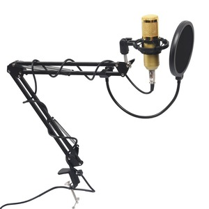 Image 1 - Professional BM800 Mikrofon Condenser Sound Recording With  Mount For Recording KTV Karaoke Microphone Mic Stand For Computer