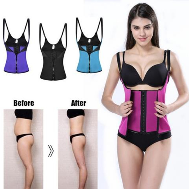 Women Body   Bustiers     Corsets   latex Rubber   corset   waist Trainer super corselet Top Slimming Shapewear black warehouse