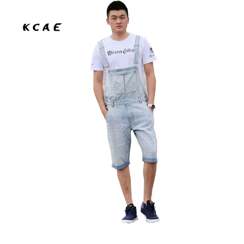 Denim Bib Overalls Shorts Men Summer Fashion Men's Jeans Jumpsuits Rompers Plus Size S M L XL 2XL 3XL 4XL 5XL male suspenders 2016 new casual denim overalls blue ripped jeans pockets men s bib jeans boyfriend jeans jumpsuits