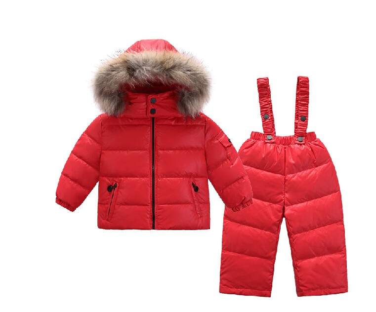 Infant Snowsuit New Toddler Boys Girls Winter Suits Thermal Down Jacket+Thickening Jumpsuit Fur Collar Baby Snow Wear infant snowsuit new toddler boys girls winter suits thermal down jacket thickening jumpsuit fur collar baby snow wear