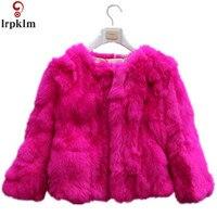 Искусственного кролика Мех животных S Пальто для будущих мам короткие толстые теплые пальто Искусственный мех пальто Для женщин Корея Диза...