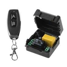 AC 220V 10A 1CH RF 433MHz receptor de interruptor de Control remoto inalámbrico módulo + Kit transmisor para casa inteligente