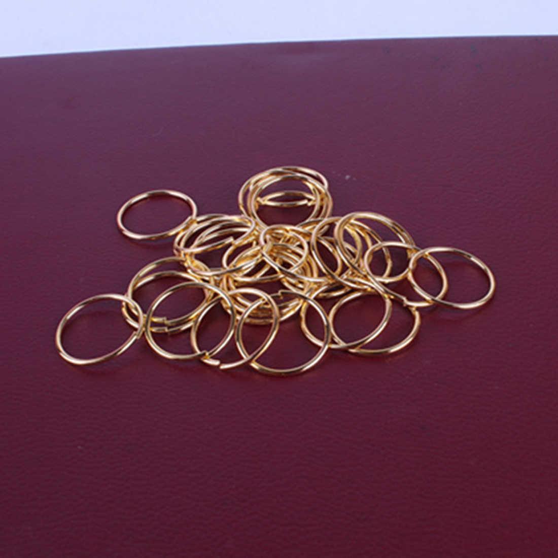 20 шт Горячая Красота Золотой Серебряный парик Ювелирное кольцо оплетка дреды бусина манжеты клип оплетка обод кольцо приблизительно 10 мм Внутреннее отверстие