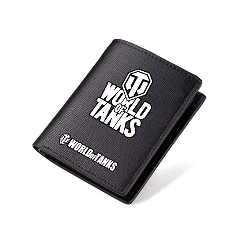 World of Tanks Wallet Popular High School Students Cool Long PU Purse Short Style Carteira Teenagers