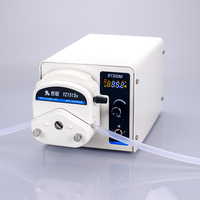 Mini high precision 220V 110V peristaltic pump liquid delivery metering pump laboratory LED display food grade filling machine