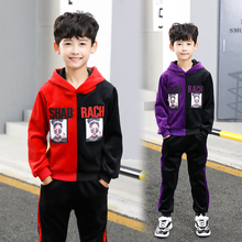 2018 Baby Boy Clothes winter Cartoon Clothing Set Long sleeves Leisure boys sweatshirt + Pant 2pcs kids clothes set 6 7 8 Y