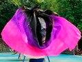Высокое качество женщины seidenschleier сексуальный танец живота вуаль шарф 100% подлинный шелк завеса танец живота черный + фиолетовый + роза