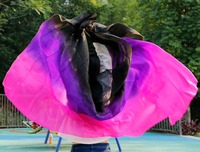 High Quality Women Seidenschleier Sexy Belly Dance Veil Scarf 100 Authentic Silk Veil Belly Dance Black