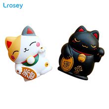 Painted Lucky Cat Fridge Magnets Home Decoration Accessories Message Stickers Home Garden Decor Fridge Stickers map of croatia fridge stickers