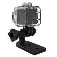 SQ12 HD 1080 마력 미니 카메라 나이트 비전 미니 캠코더 스포츠 야외 DV 음성 비디오 레코더 액션 방수 카메라 스포