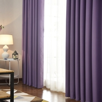 Fashional Simple and Elegant Style Living Room Bedroom Blackout Curtains Grommet for Bedroom Rideaux Window Customized