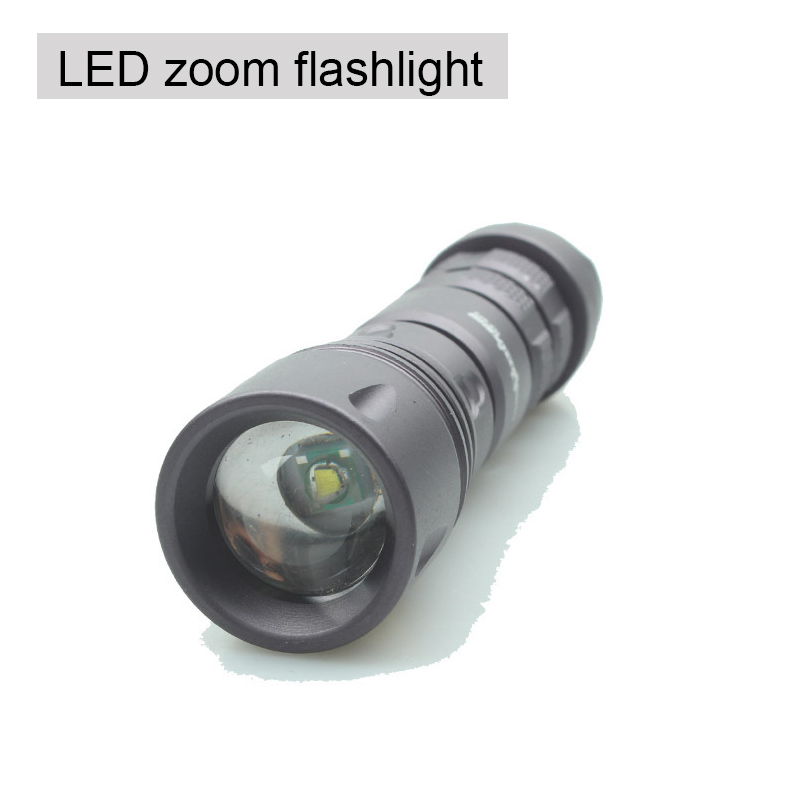LED Aluminum alloy self-defense flashlight high-grade Apply direct charger car charger, zoom, strong light flashlight