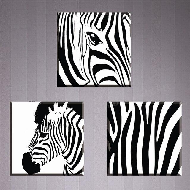 Aliexpress koop 3 stuk zebra schilderen canvas decoratieve foto 3 stuk zebra schilderen canvas decoratieve foto muur foto voor woonkamer hd hoge kwaliteit unframed thecheapjerseys Gallery
