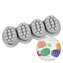 Nowe formy silikonowe do mydła formy silikonowe do ciast formy do masażu mydła z jednym otworem do mydła na świąteczny prezent foremka do mydła tanie tanio Architektura 28 5*10 5*4 5cm