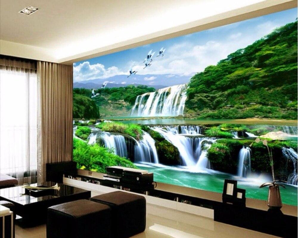 Custom 3d Photo Wallpaper 3d Wall Murals Wallpaper Hd: Custom Photo 3d Room Wallpaper Chinese Mountain Waterfall