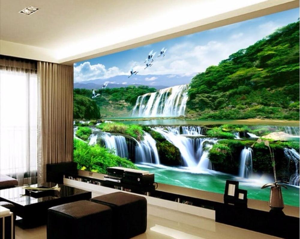 kustom foto 3d ruang wallpaper cina gunung air terjun derek putih pemandangan lukisan 3d dinding mural wallpaper untuk dinding 3 d di wallpaper dari
