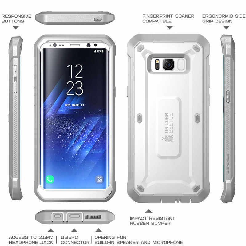 reputable site 4e579 c4a2c SUPCASE For Samsung Galaxy S8 Plus Cover With Built-in Screen Protector UB  Pro Full-Body Rugged Holster Case For Galaxy S8+