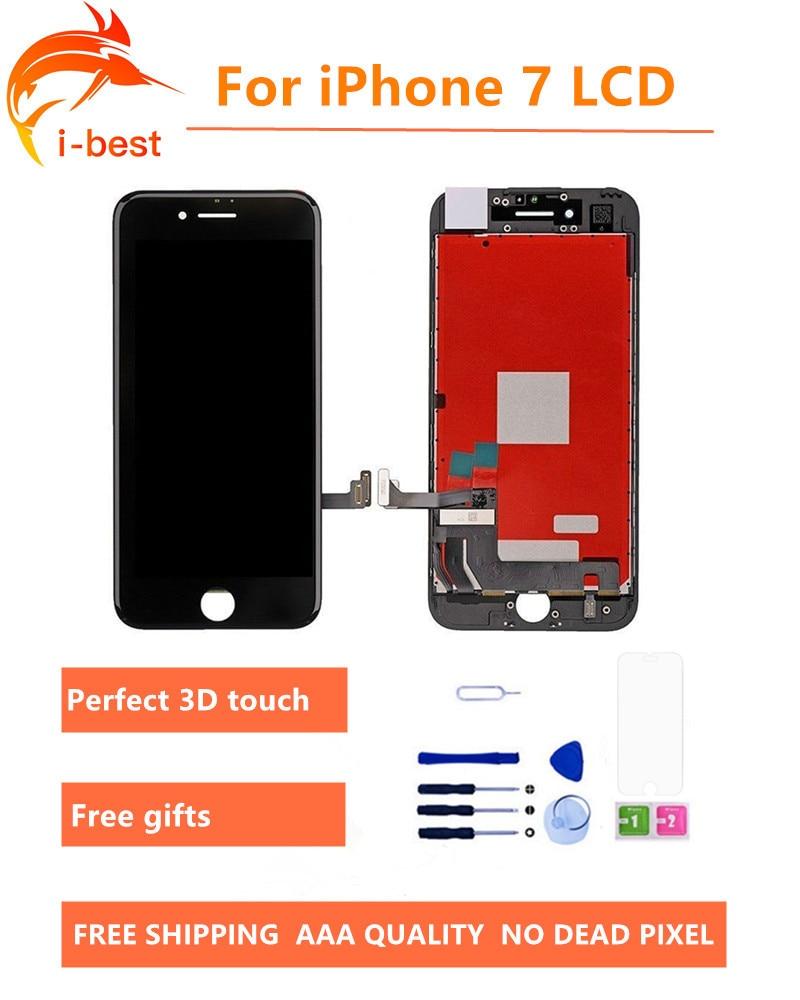 imágenes para 1 unids Para iphone7 LCD TianMa Pantalla Asamblea Con Pantalla Táctil 3D ningún pixel muerto reemplazo para iphone 7 lcd 4.7 el envío libre