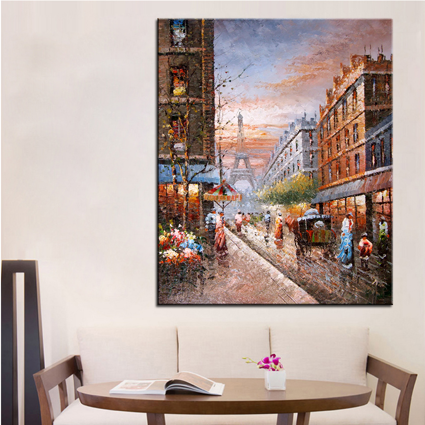 Extra Large Wall Painting Of Tower Home Office Decoration
