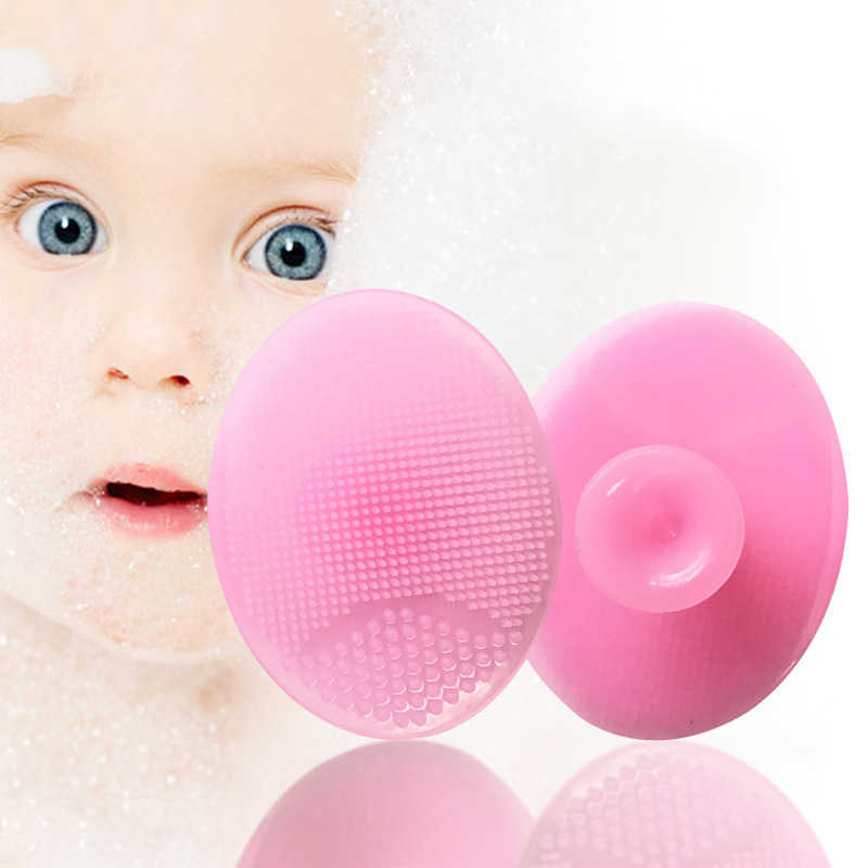 Bebé disponible Super suave almohadilla de masaje de lavado de silicona champú cepillo ducha baño LIMPIADOR EXFOLIANTE FDA puntos negros herramienta para el cuidado facial