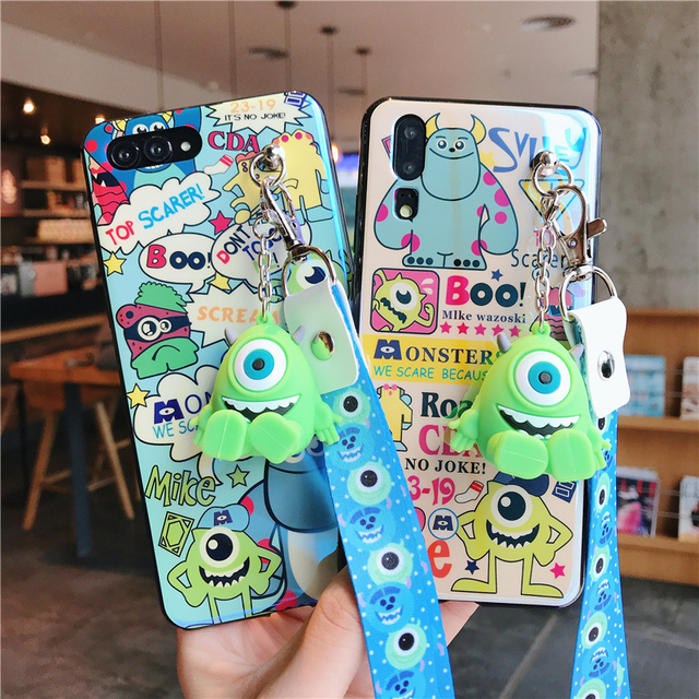 US $5 69 5% OFF|For Huawei P20 Monsters University case, Cute Sullivan Soft  case For Huawei P20 pro /p20 lite nova3e / P10 cover + toy +Strap-in
