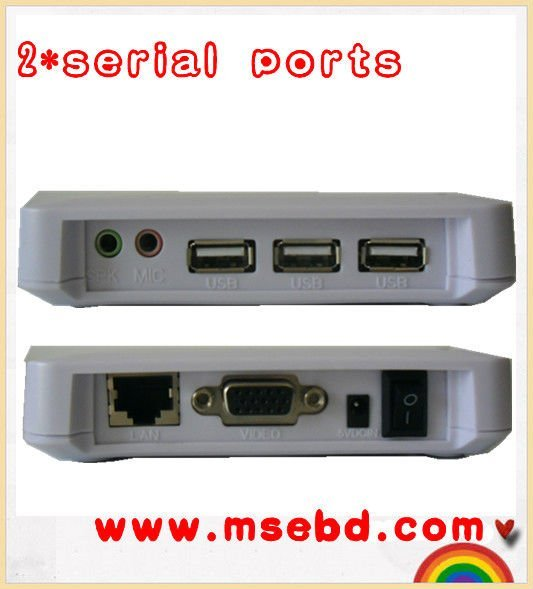 New cheapset thin client.wholesale price+retails ,support 32 color depth,3 USB ports,WIN 7 supported,T700