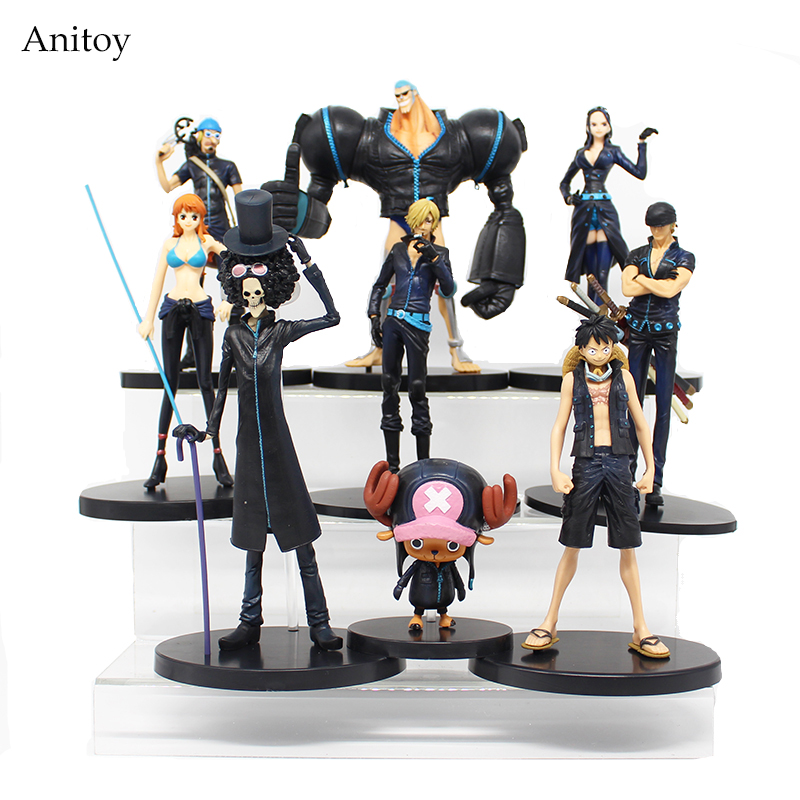 Anime One Piece Film Gold Luffy Chopper Brook Robin Franky Usopp Nami Zoro Sanji PVC Action Figure Collectible Model Toy KT3826 one piece quality goods koala pvc figure 23cm toy model luffy zoro sanji nico robin nami for unisex kids friends japan anime hot