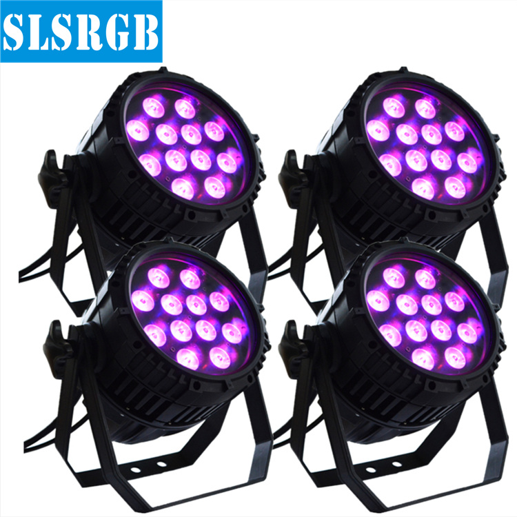 4PCS/LOT New Product 12pcs led par can rgbw outdoor flat par led waterproof 12x12w rgbw stage lighting