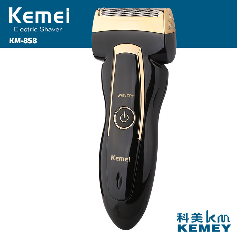 Kemei Rechargeable Rotary Men's Electric Shaver Reciprocating Electric Travel Use Safe Shaver for Men EU Plug Electric Razor kemei rscw 9001 reciprocating washable three blades electric shaver travel use safe razor for men razor trimmer electric shaver