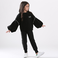 Girl Spring Autumn 2PCS Set Children Sweater+Pants Fashion Sportswear Clothing Sets Kids Girls Outfits Loose Sleeve for Teens