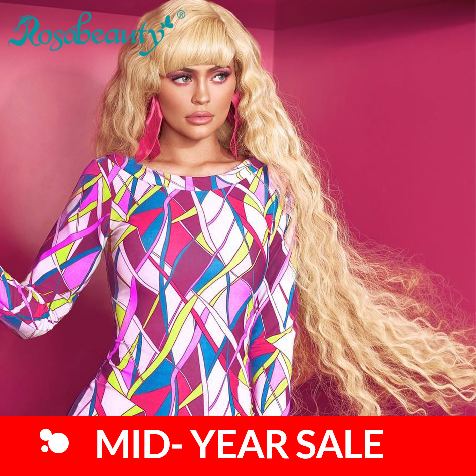 Rosabeauty transparent 613 Blonde Lace Front Wigs For Black Women Body Wave Pre Plucked With Baby