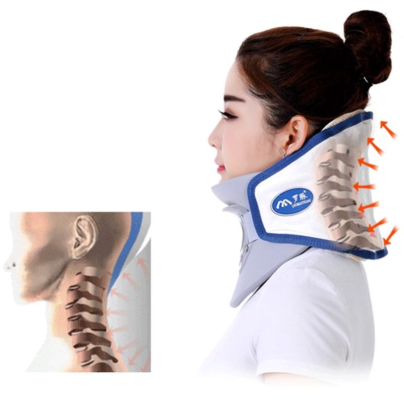 Dispositivo de tracción cervical cuello inflable equipo doméstico cuidado de la salud Dispositivo de masaje cuidado de enfermería-in Masaje y relajación from Belleza y salud    1