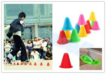 400pcs inline skating Skateboard Mark Cup Soccer Rugby Speed training Equipment Space Marker Cones Slalom Roller skate pile cup [7000 aluminium alloy] original vortex inline speed skate frame base for 4x110mm 4x100mm 4x90mm skating shoe bcnt sts cityrun