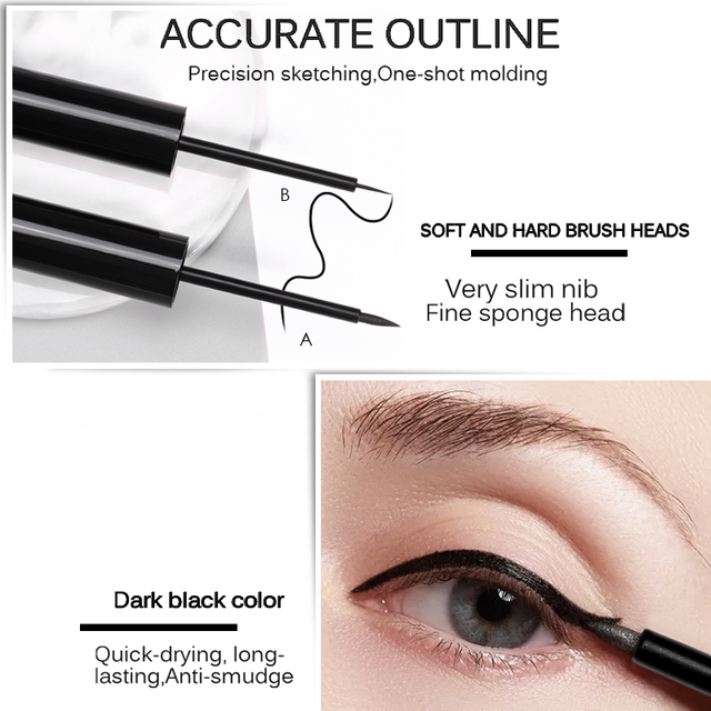 MIXDAIR Eyeliner Waterproof Liquid Eyeliner Beauty Cat Style Black Long-lasting Eye Liner Pen Pencil Makeup Cosmetics 4