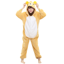 Cartoon Anime Unisex Adult Cosplay Costume Rilakkuma Bear Onesies Pajama For Halloween Carnival Masquerade Party (No Slipper)