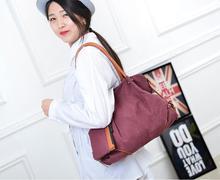 Moda 3 unids/set Compuesta Lienzo llanura bolsa de lona bolsa de Hombro de La Manera bolsas de Mensajero de Las Mujeres Bolsos Con buena calidad